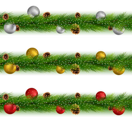 Set of christmas garlandsand balls