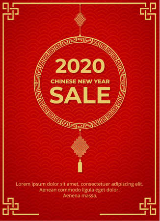 Chinese new year sale design template 일러스트