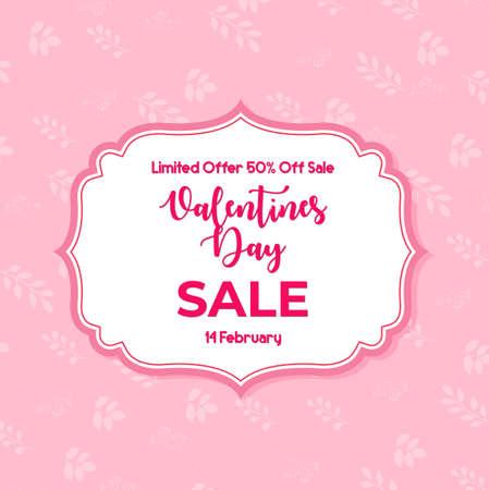 Valentines day sale banner background Иллюстрация