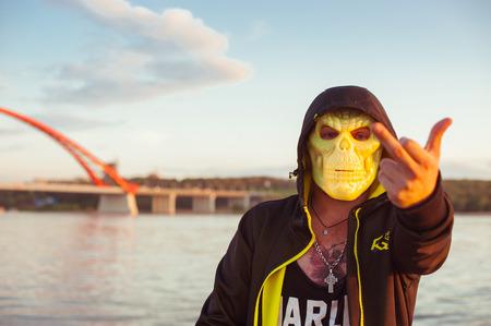 average guy: The guy in the mask