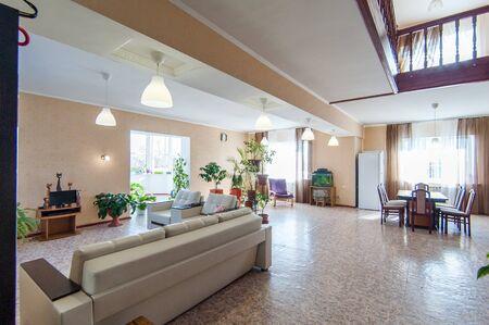 Russia, Moscow- June 26, 2018: interior room apartment. standard repair decoration in hostel