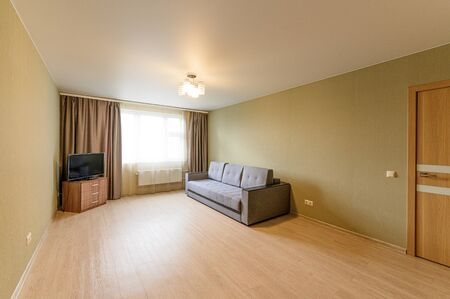 Russia, Moscow- September 10, 2019: interior room apartment modern bright cozy atmosphere. general cleaning, home decoration, preparation of house for sale Editorial