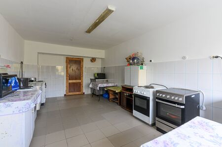 Russia, Moscow- September 10, 2019: interior room apartment public place kitchen