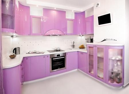 light purple plastic kitchen freehold Stock Photo - 23269790