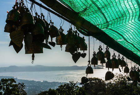 marmorate: tradizione campana asiatico nel tempio Big Buddha, Thailandia, Phuket