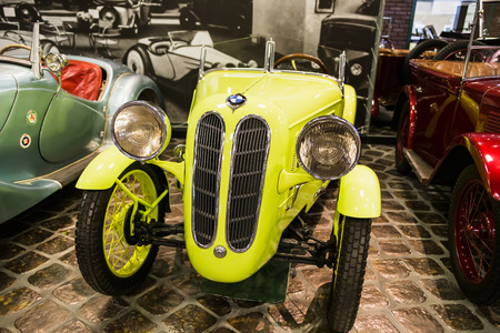 Museum of Technology Vadim Zadorozhnogo - Russias largest private museum of art BMW DIXI DA3 WARTBURG. Russia, Moscow, 24 January 2015 Editorial