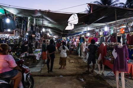 17 APRIL a night market in Thong Sala village, Koh Phangan island, Thailand, 17 april, 2015