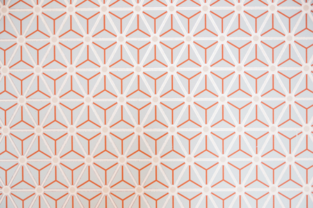 Wallpaper pattern on the wall ornament triangles