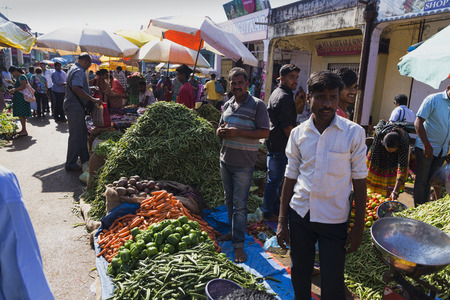 Market of things and vegetables GOA, India, 21 March, 2017 Redactioneel