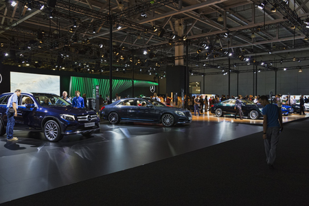 MOSCOW - SEPT04: The Moscow international motor show 2016 on September 04, 2016 in Moscow, Russia.
