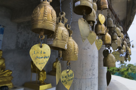 Thailand, Phuket, April 20, 2015, bells to scare away evil spirits and Buddhism in Thailand Redactioneel