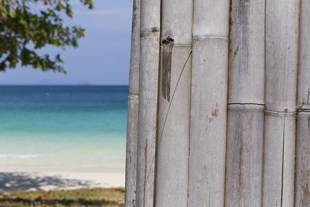 Paradise landscape of white sand Paradise water