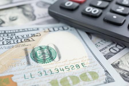 Money and calculator photo