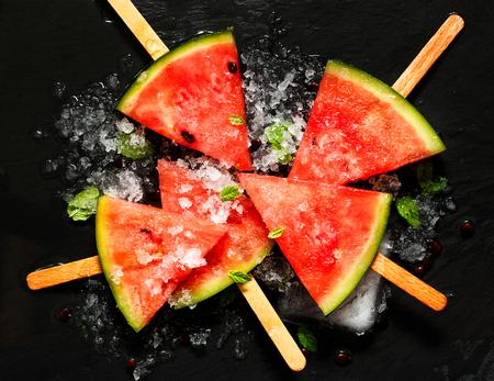 Frozen watermelon popsicles