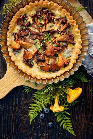 chanterelle: Chanterelle mushrooms quiche