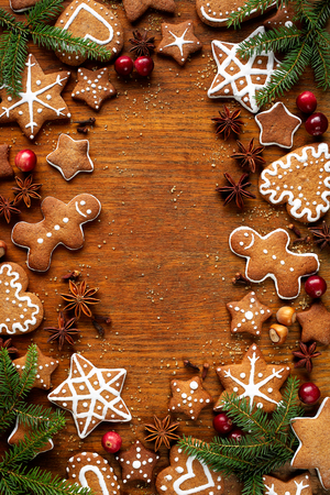 gingerbread cookies: Christmas gingerbread cookies, christmas decoration Stock Photo