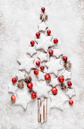 sugar cookies: White Christmas tree. Christmas decoration