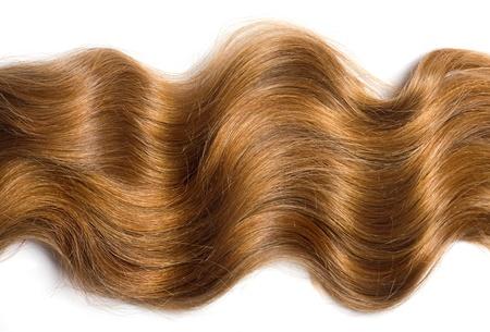 白い背景に自然な人間の毛髪