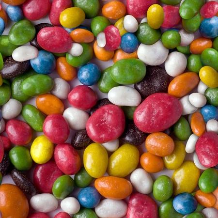 色とりどりのお菓子の写真からのシームレスなパターン