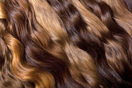 Fond naturel de cheveux humains