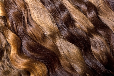 Natural human hair background photo
