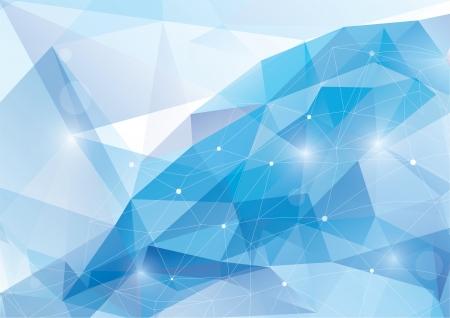 ブルー抽象的な多角形の背景 - ベクトル イラスト  イラスト・ベクター素材