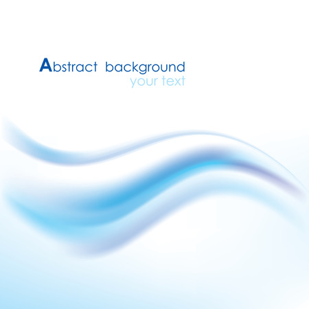 wave vector: Vector blue background with abstract wave