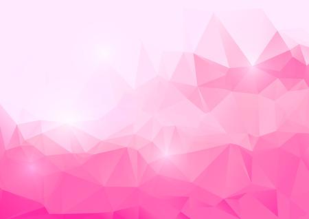 多角形の抽象的な背景がピンク