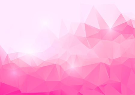 Pink abstract polygonal background Çizim