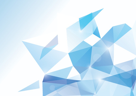 blue background abstract: Blue abstract polygonal background - vector illustration