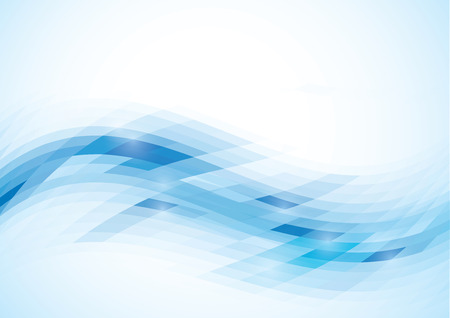 Abstract blue wave - background design.