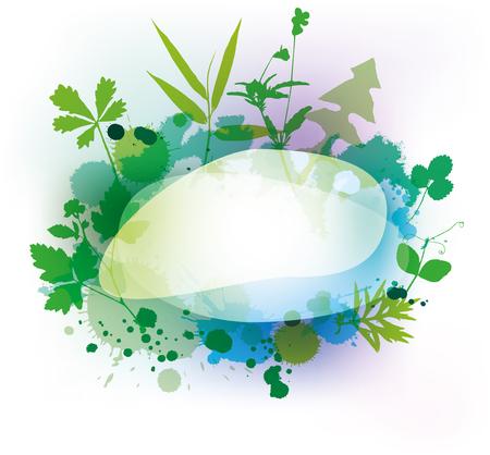 Spring floral frame - vector illustration.