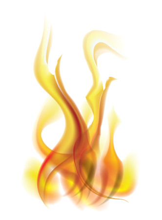 Vector flame. For used on white background. Illustration