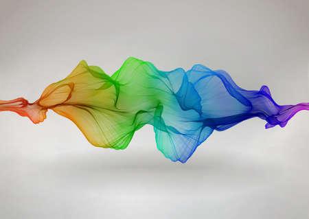 Beautiful abstract background with smoky rainbow wave Zdjęcie Seryjne