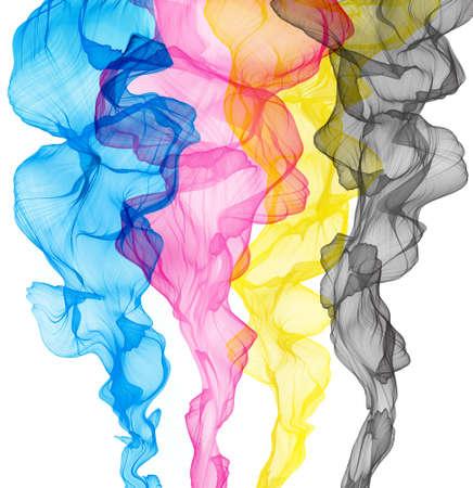 CMYK concept, abstract smoky background Reklamní fotografie