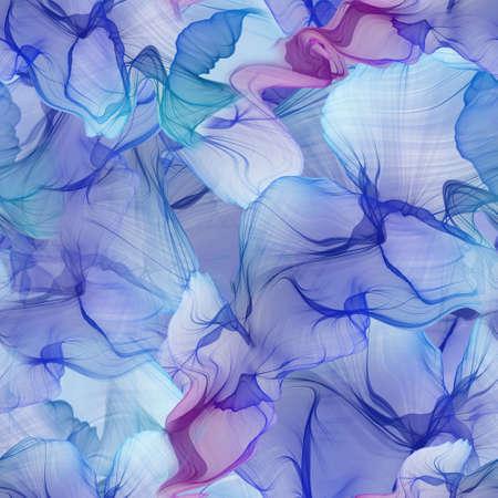 Beautiful seamless pattern of wavy abstract