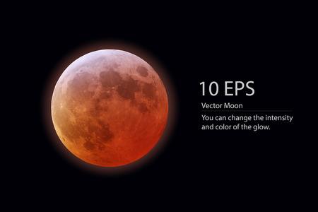 vector blood moon