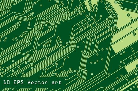 vector microchip  イラスト・ベクター素材