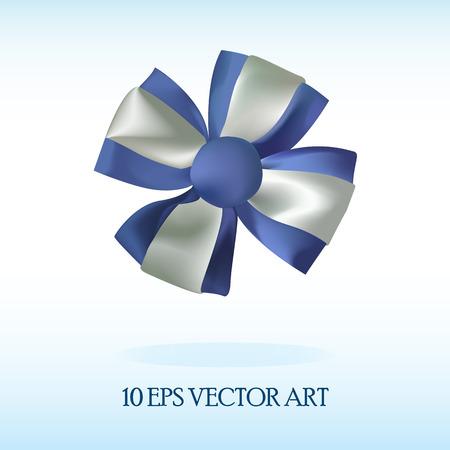 realistic silk bow  イラスト・ベクター素材