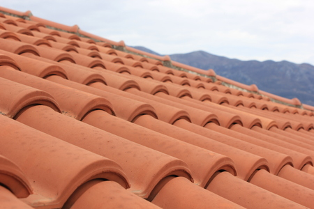 tile roof of old town Budva