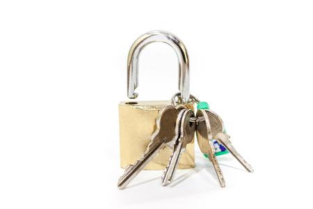 hinged: hinged lock with keys