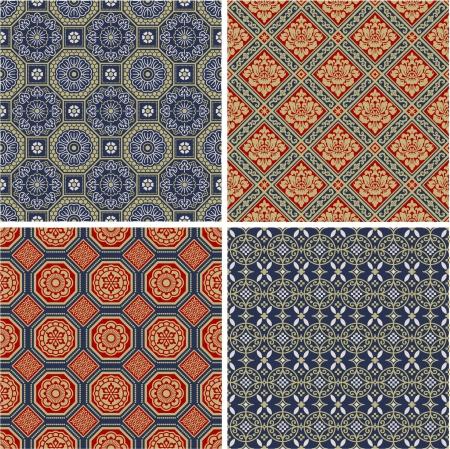 japanese pattern: Chinese seamless patterns Illustration