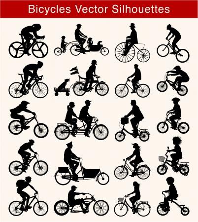 ciclista: Bicicleta silueta