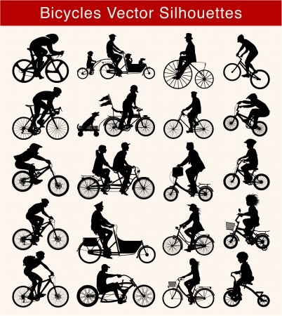 cyclist silhouette: Bicycle silhouette Illustration