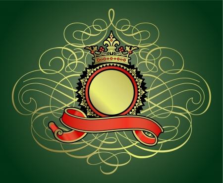 Heraldry coat of arms badge Stock Vector - 16335028