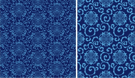 2 different China style seamless pattern Vector