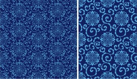 2 different China style seamless pattern
