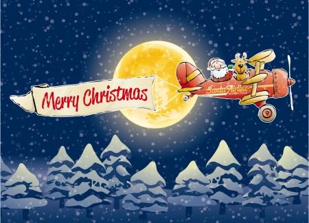 weihnachtsmann lustig: Santa Claus Airline