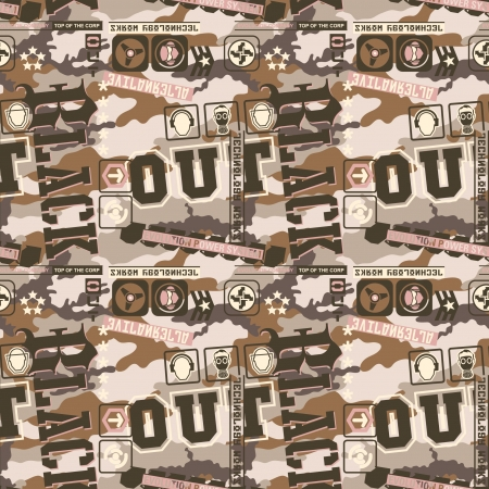 Urban camouflage seamless pattern   for active and street  wear