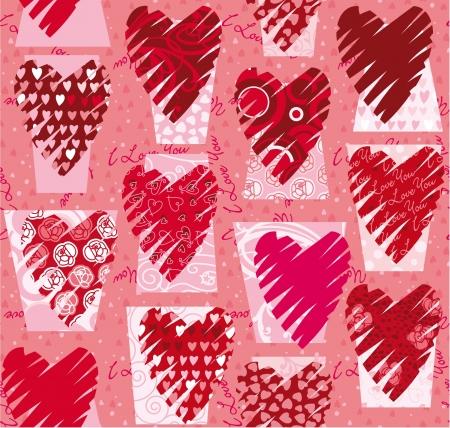 Hearts seamless  pattern Stock Vector - 17585225